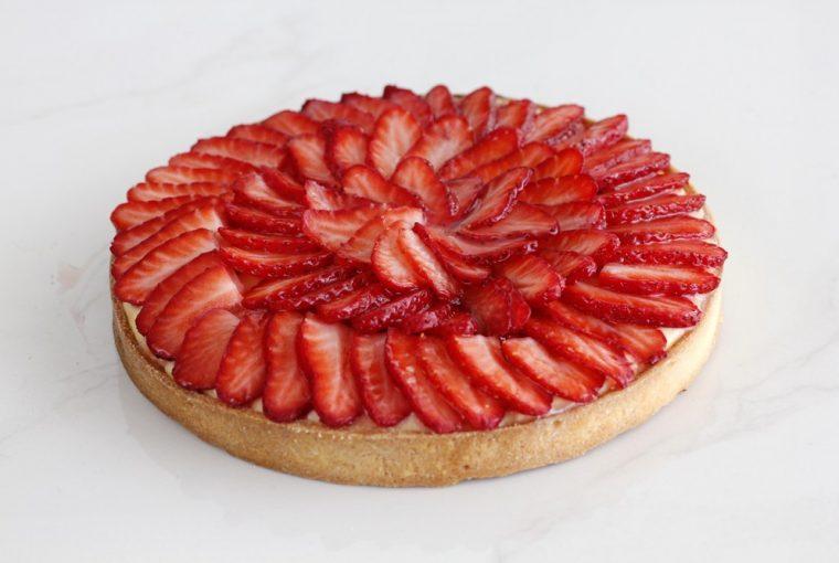 Tartă de căpșuni, Tartă de căpșuni cu cremă de vanilie