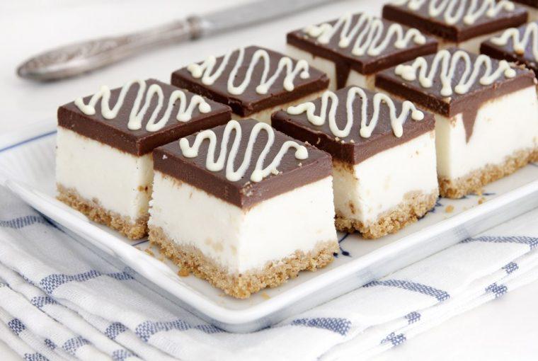 cheesecake, Batoane de cheesecake și ciocolată