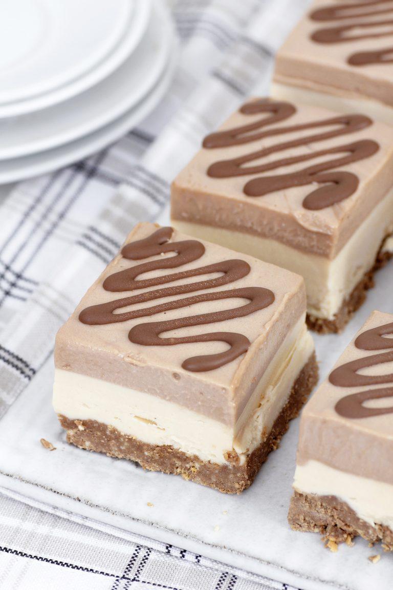 Cheesecake cu unt de arahide și ciocolată 1