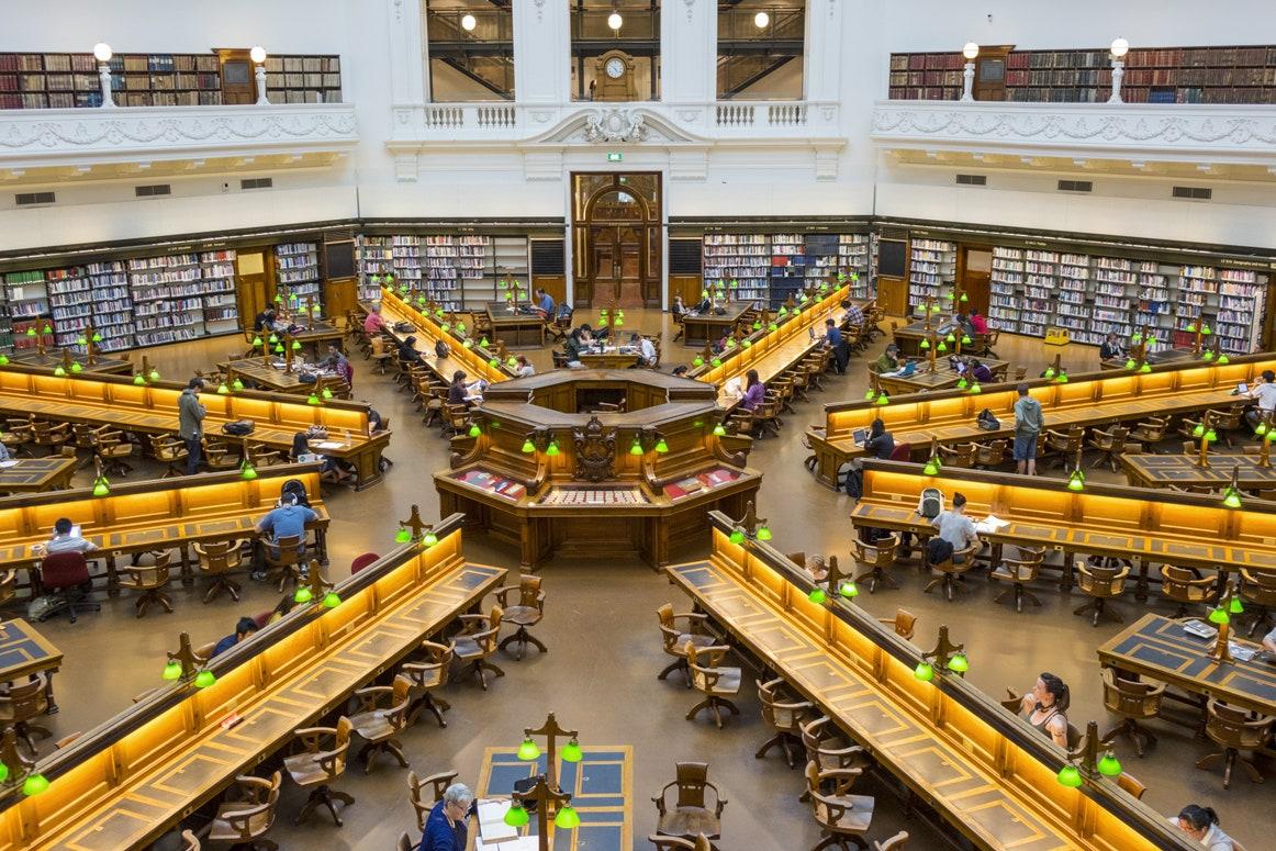 Sala Trobe, biblioteca de stat Victoria din Melbourne