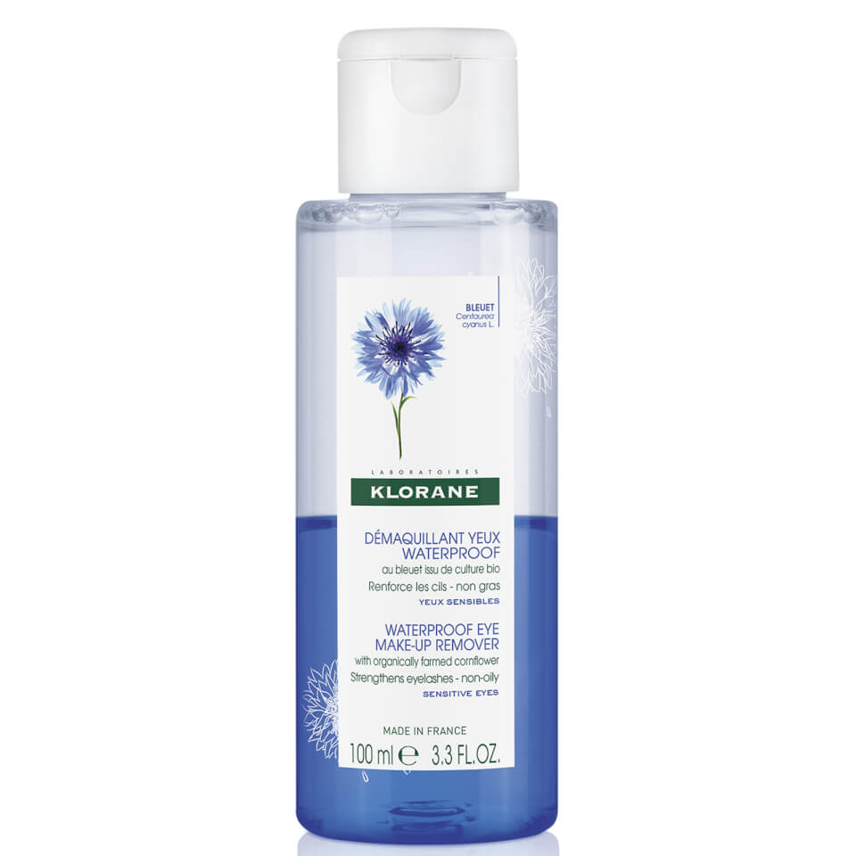 Klorane Waterproof Eye Makeup Remover with Cornflower