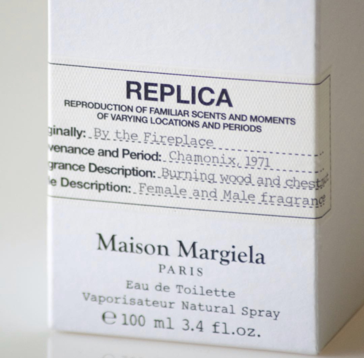 Maison Margiela Replica by the fireplace notino2