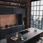 bucătărie pe negru