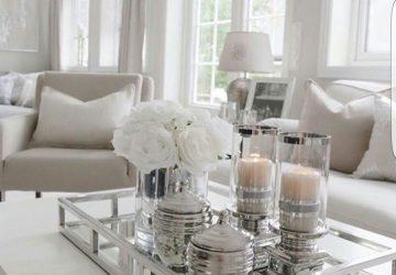 decoruri în alb și crem